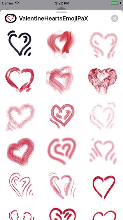 Valentine Hearts Emoji PaX screenshot-1