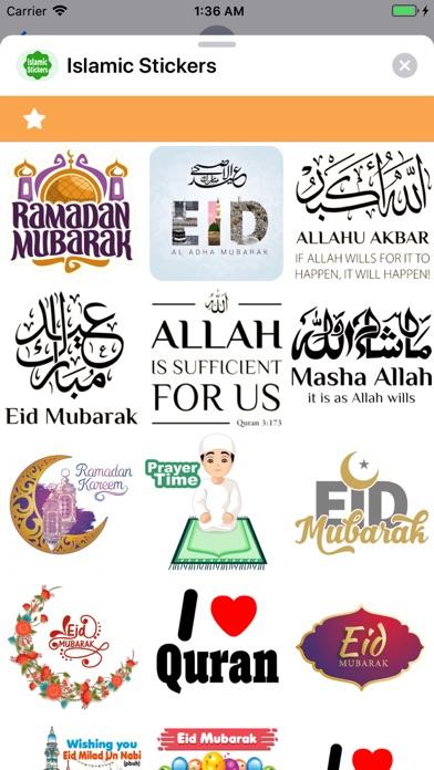Screen Shot Islamic Stickers ! 2