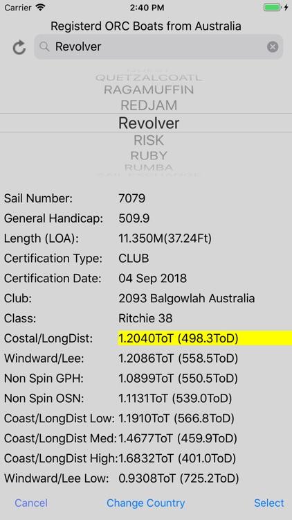 Sailing Handicap Calculator screenshot-8