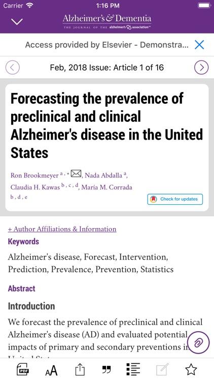 Alzheimer's & Dementia Journal screenshot-4