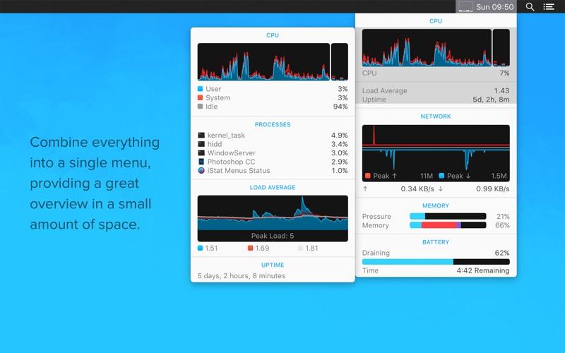 iStat Menus Screenshots
