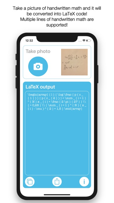 Screenshot for Handwritten Math to LaTeX in United States App Store