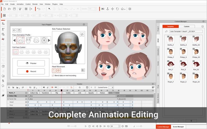 Скриншот №2 к Cartoon Animator 4 Pro для Mac