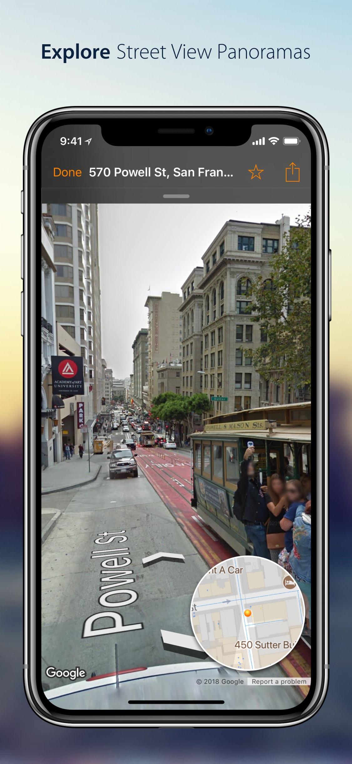 Screenshot do app Streets - Street View Browser