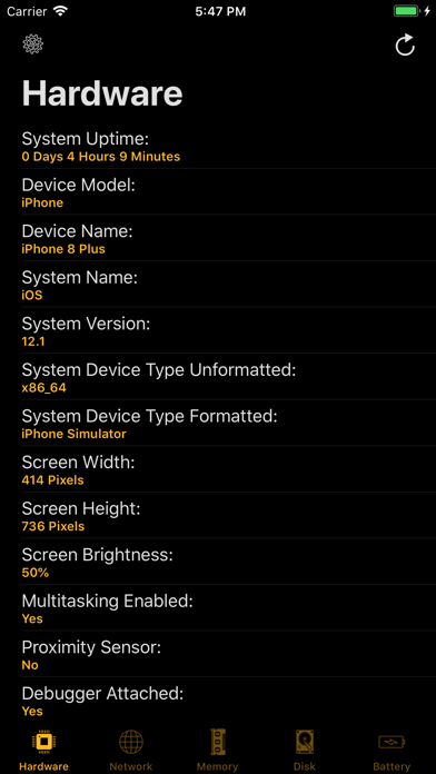Device System Services Screenshots