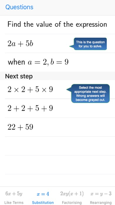 Screenshot for Practice Perfect: Maths 10 in United States App Store