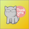App Icon for Cat Lovely Gray Sticker App in Brazil App Store
