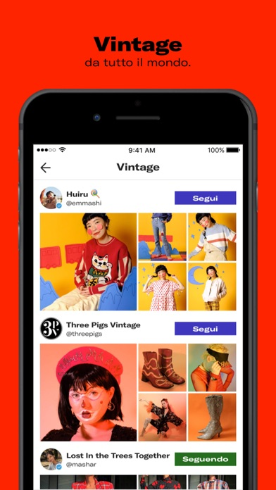 Screenshot for Depop - Shop. Unique. Fashion in Italy App Store