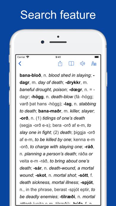 Old Icelandic Dictionary screenshot four