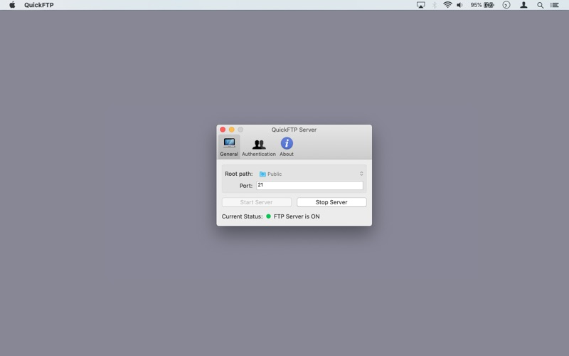 QuickFTP Server for Mac