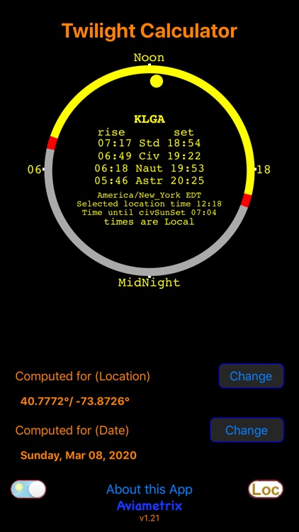 Civil Twilight Calculator