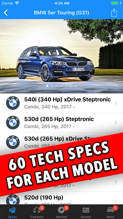 BMW Specs screenshot-2