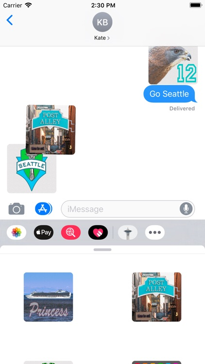 Seattle Stickies for iMessage screenshot-8