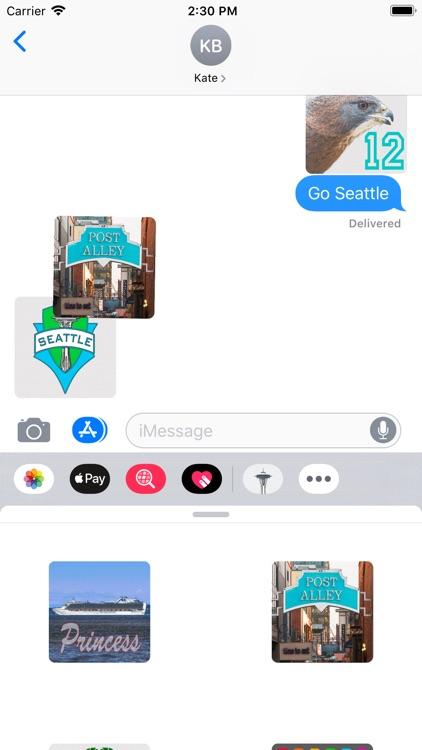 Seattle Stickies for iMessage screenshot-8