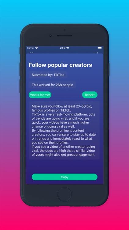 TickTop get tips for followers screenshot-3