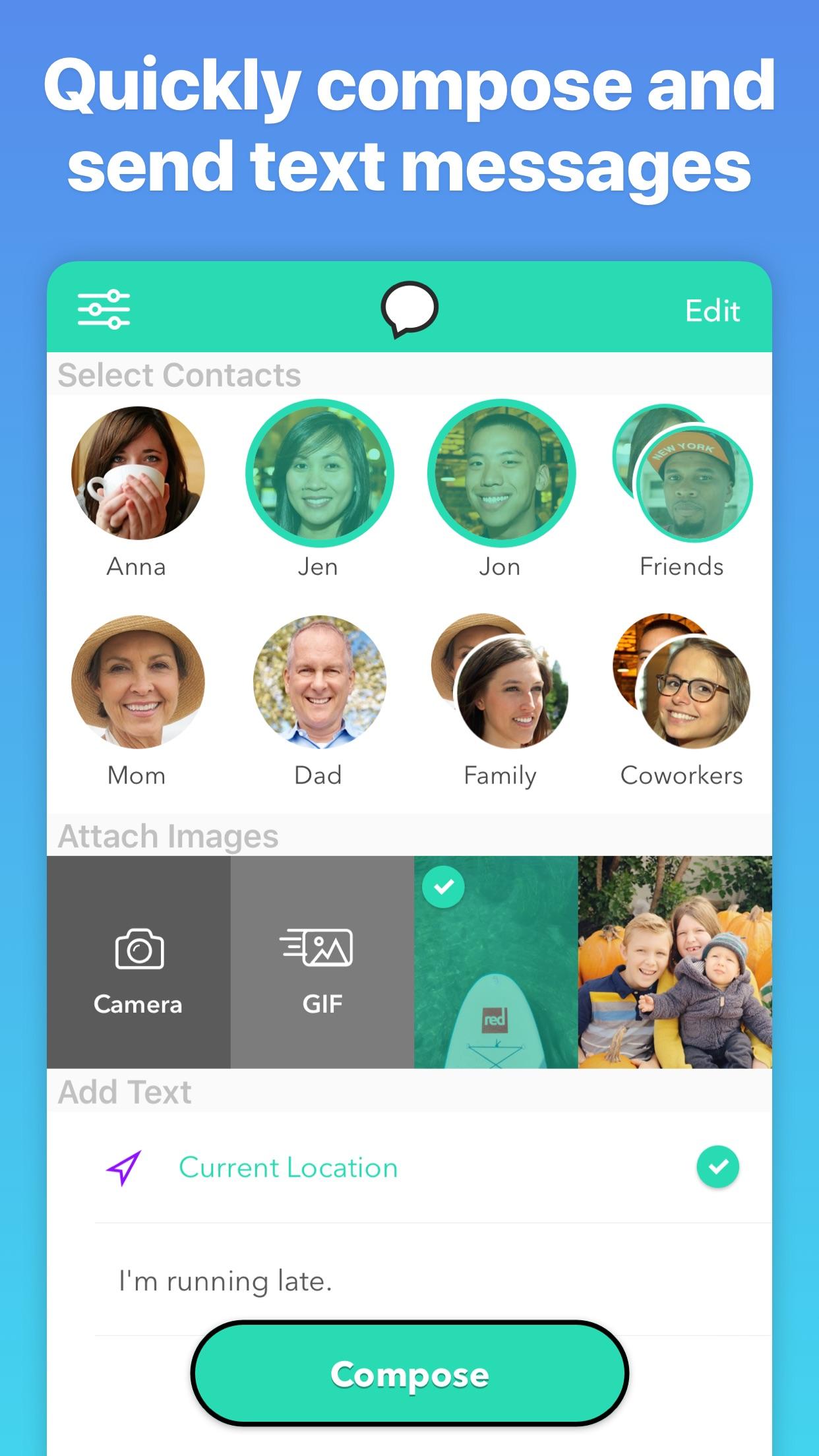 Screenshot do app Group Text+