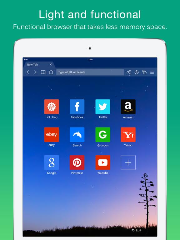 Dolphin Web Browser for iPad iPad app afbeelding 1