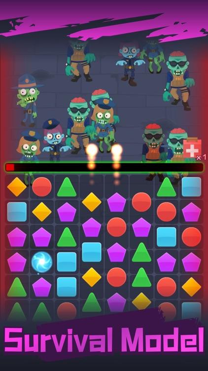 Zombie Survival Blast Match 3 screenshot-3