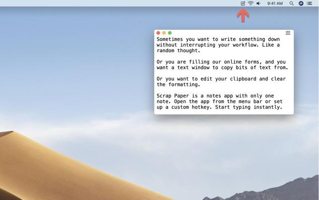Scrap Paper on the Mac App Store