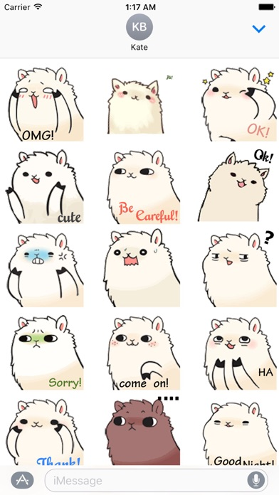 Animated Lovely Alpaca Sticker screenshot 1