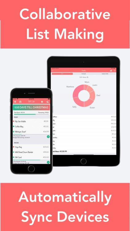 Christmas Gift List Tracker screenshot-3