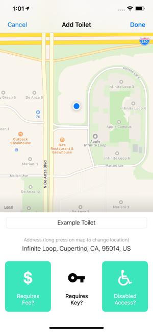Flush - Toilet Finder & Map Screenshot