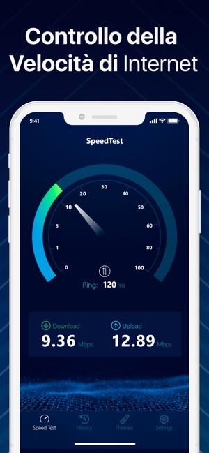 test velocità connessione iphone