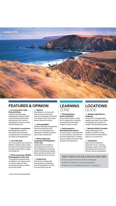 Outdoor Photography Magazine review screenshots