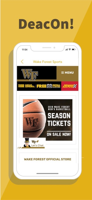 Deacon For Wake Foresters On The App Store