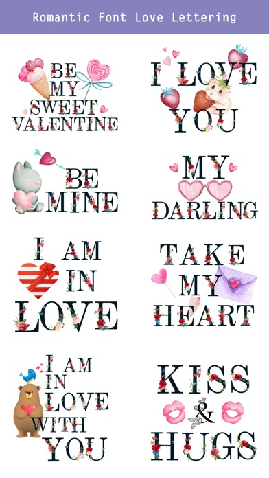 Valentine's Day Love Lettering screenshot 3