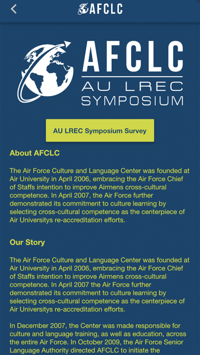 AU LREC Symposium app image