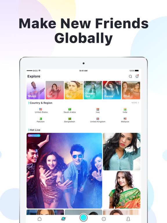 iPad Image of BIGO LIVE-Live Stream, Go Live
