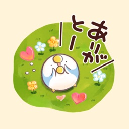 Cute sticker by that bird.