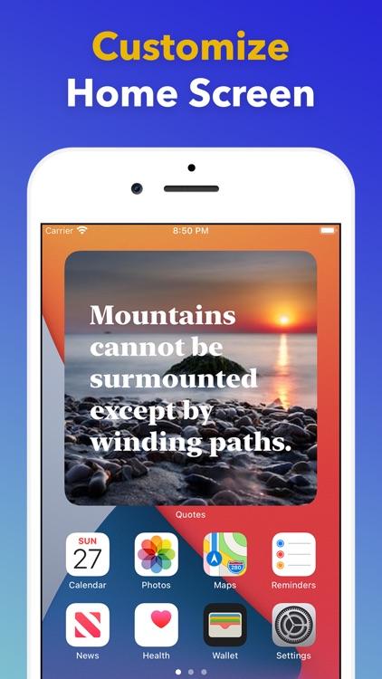 Widget quotes for Home Screen screenshot-4