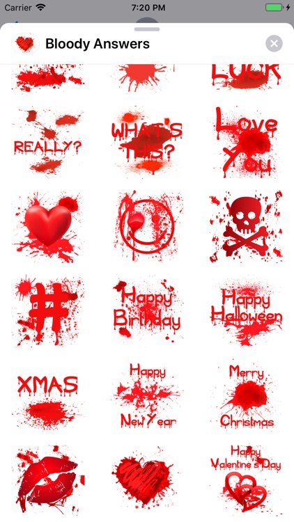 Bloody Answers Stickers