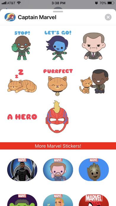 download Captain Marvel Stickers apps 2