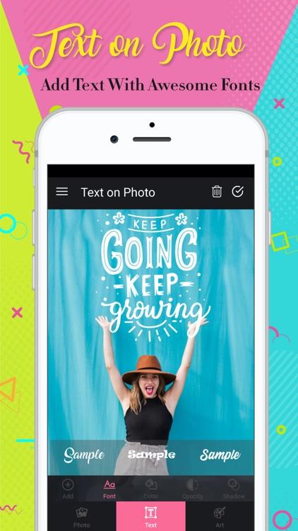 Text On Photo: Textmania &Font