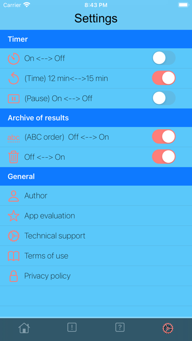 Motivation Profile Screenshot