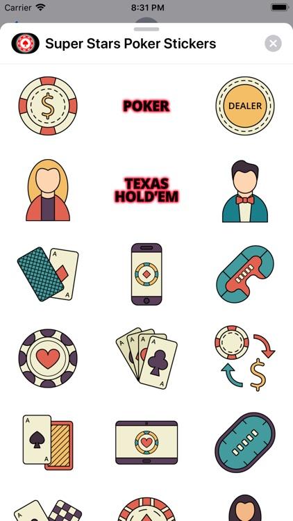 Super Stars Poker Stickers