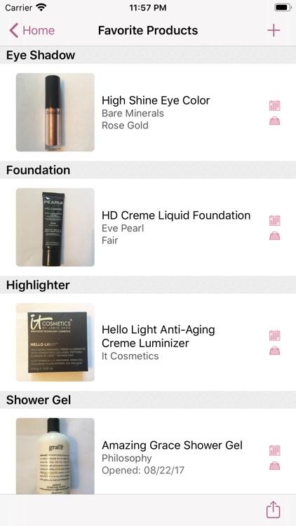 myBeautyCache Makeup Organizer screenshot-5