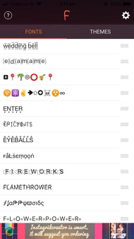 Cool Fonts & Keyboard Themes iphone images