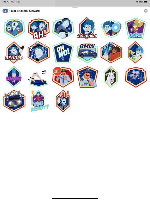 Pixar Stickers: Onward screenshot 9