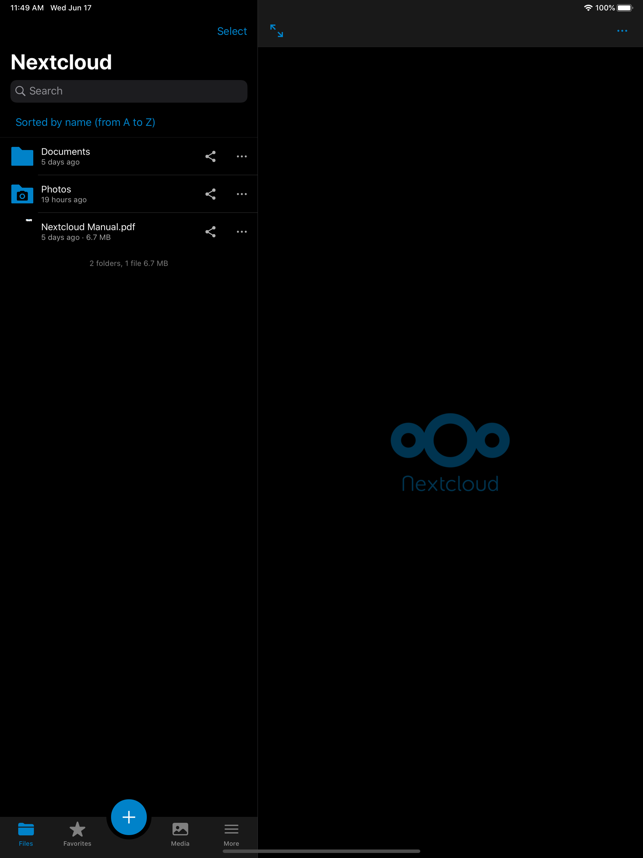 ‎Nextcloud Screenshot