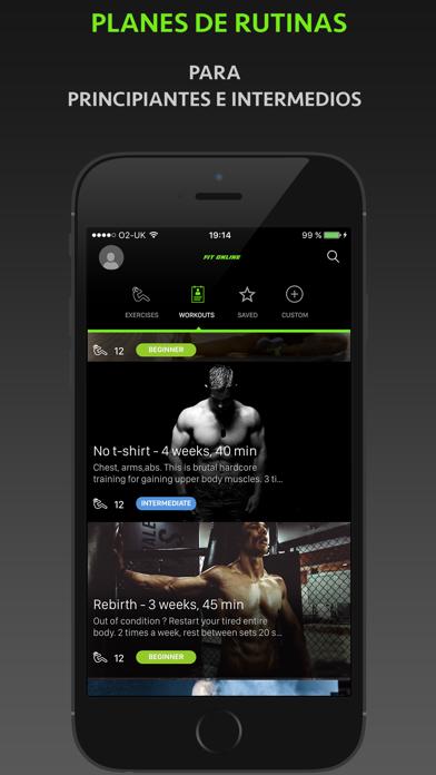 Fitness Online - Entrenador Personal Y Diario De EjercicioCaptura de pantalla de5
