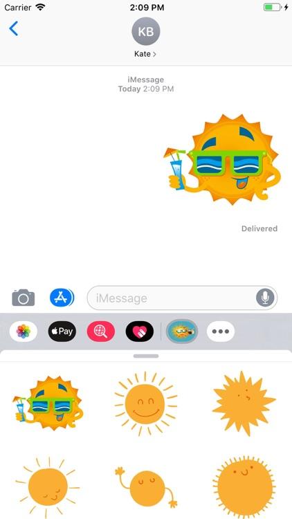 Sunshine Stickers Pack screenshot-5