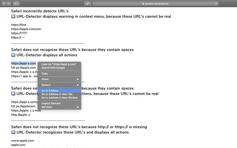URL-Detector for Safari скриншот программы 7