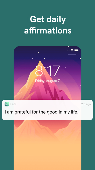 I am - Positive Affirmations Screenshot