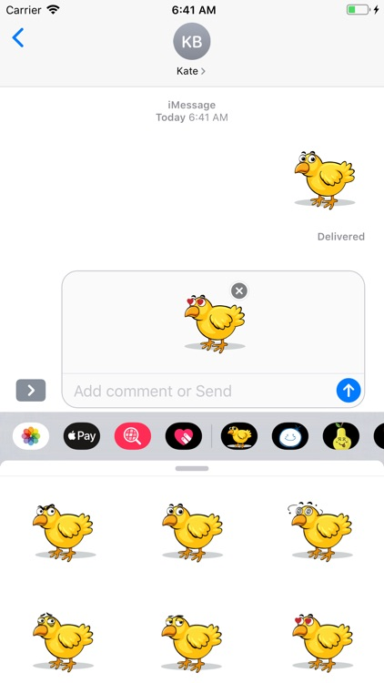 Chicken Emotion Sticker