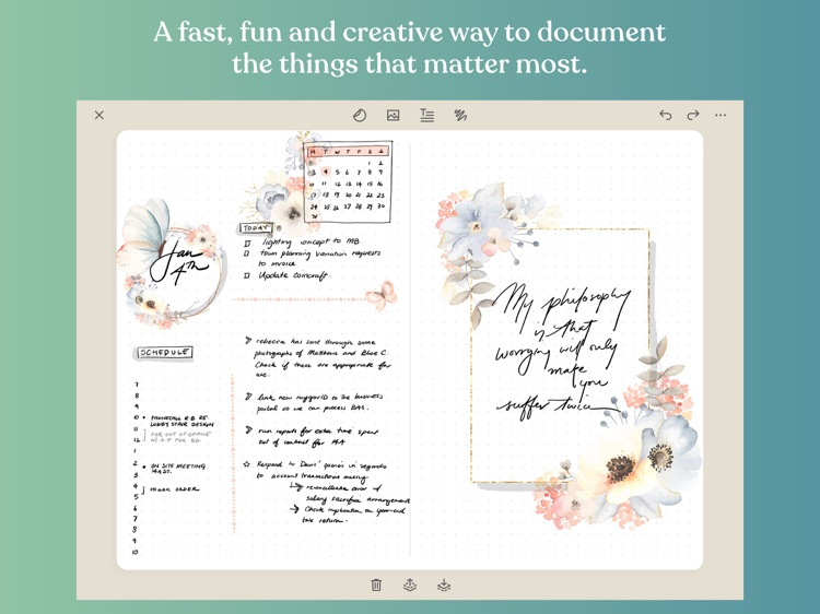 Zinnia Journal & Planner screenshot-0
