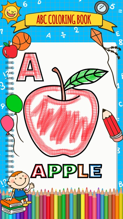 Abc Coloring Book-Draw & paint